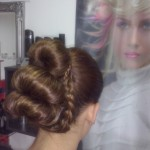 Catalog coafuri Salon Helen Timisoara Coc spaniol Hairstyle, Bun,