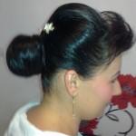 coafura cu coc frizerie, salon, infrumusetare, Helen, Timisoara beauty salon